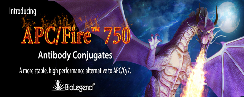 APC/Fire™ 750 provides a more temperature and photo-stable alternative to APC/Cy7.